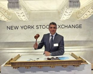 Mark Blinderman Rings Opening Bell on Wall Street